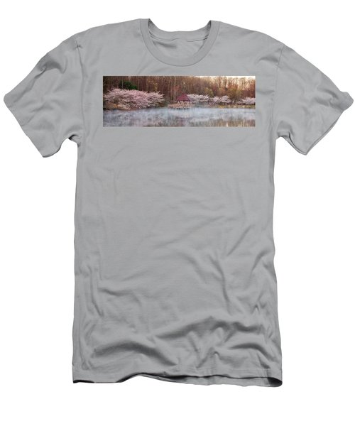 Gazebo And Cherry Trees Men's T-Shirt (Athletic Fit)
