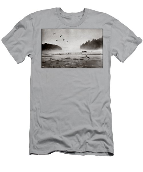 Men's T-Shirt (Athletic Fit) featuring the photograph Geese Over Great Bay by Wayne King