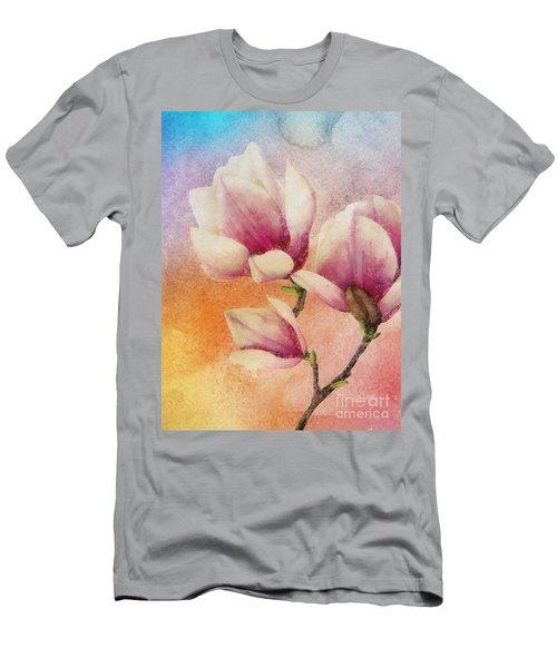 Gentleness Men's T-Shirt (Slim Fit) by Klara Acel
