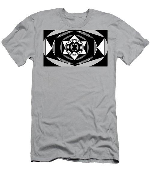 'geometric 1' Men's T-Shirt (Slim Fit) by Linda Velasquez
