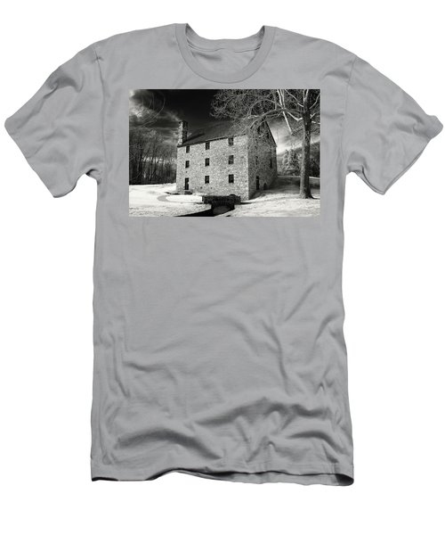 George Washingtons Gristmill Men's T-Shirt (Slim Fit) by Paul Seymour
