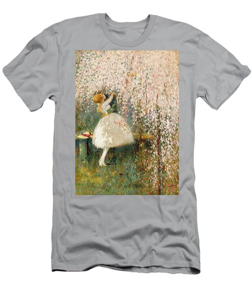 Georges Picard French 1857 1946 Romance Under The Blossom Tree Men's T-Shirt (Athletic Fit)