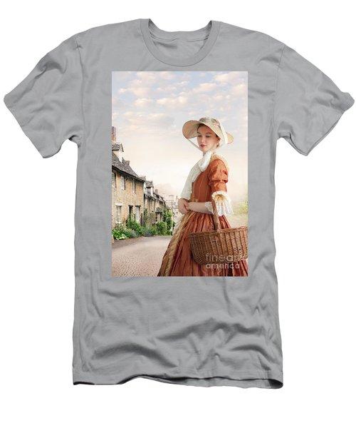 Georgian Period Woman Men's T-Shirt (Slim Fit) by Lee Avison