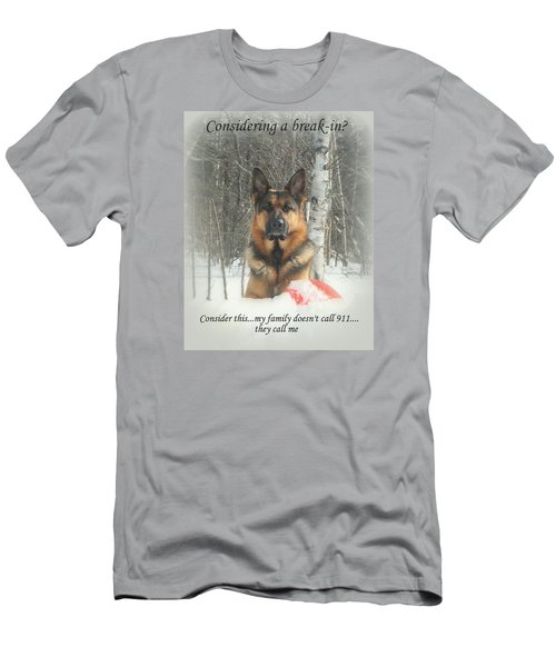 German Shepherd 911 Men's T-Shirt (Athletic Fit)