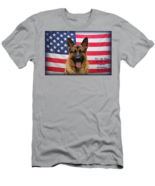 German Shepherd - U.s.a. - Text Men's T-Shirt (Athletic Fit)