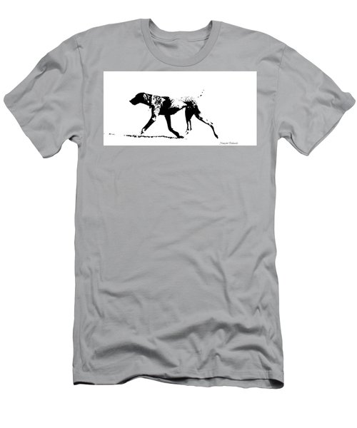 German Shorthair Pointer Gsp White And Black  Men's T-Shirt (Athletic Fit)