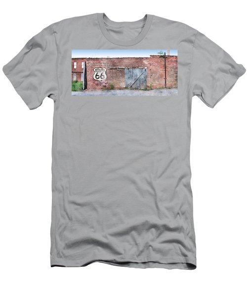 Men's T-Shirt (Slim Fit) featuring the digital art Get Your Kicks by Sandy MacGowan