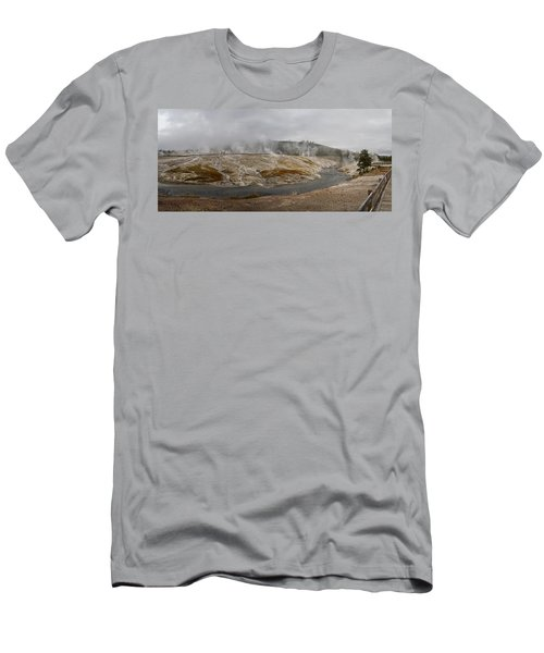 Geyser Hill  Men's T-Shirt (Slim Fit) by Shirley Mitchell
