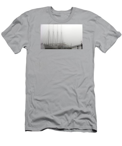 Ghost Ship Men's T-Shirt (Slim Fit) by Helen Haw
