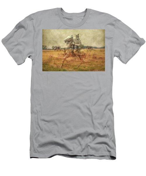 Ghosts Of Gettysburg II Men's T-Shirt (Slim Fit) by Randy Steele