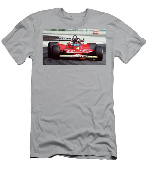 Gilles Villeneuve, Ferrari Legend - 01 Men's T-Shirt (Athletic Fit)