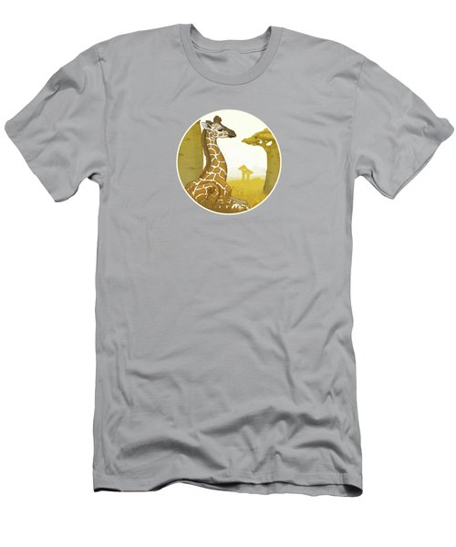 Giraffe And Savanna Men's T-Shirt (Athletic Fit)