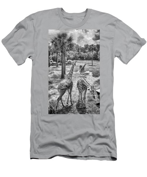 Men's T-Shirt (Athletic Fit) featuring the photograph Giraffe Reticulated by Howard Salmon
