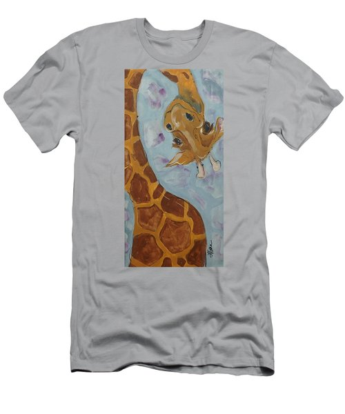 Giraffe Tall Men's T-Shirt (Slim Fit) by Terri Einer