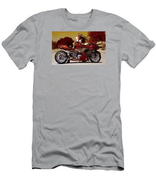 Men's T-Shirt (Slim Fit) featuring the photograph Girl On Fire by Lawrence Christopher
