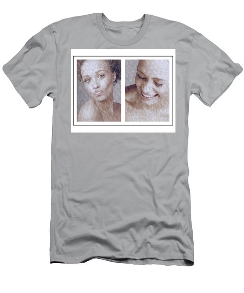 Girl Pouting And Laughing Men's T-Shirt (Slim Fit) by Michael Edwards