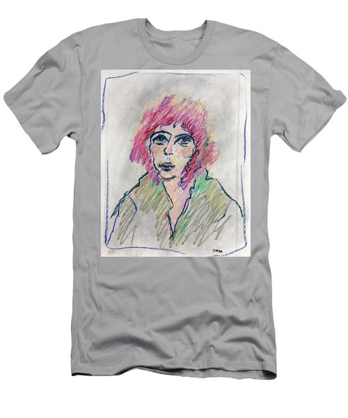 Girl With Pink Hair  Men's T-Shirt (Athletic Fit)