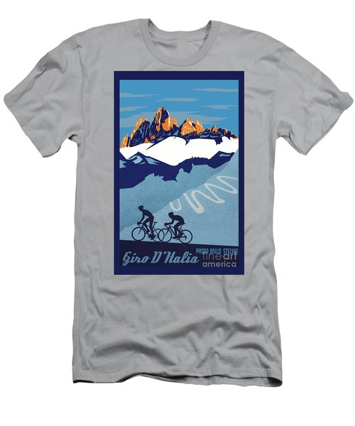 Giro D'italia Cycling Poster Men's T-Shirt (Athletic Fit)