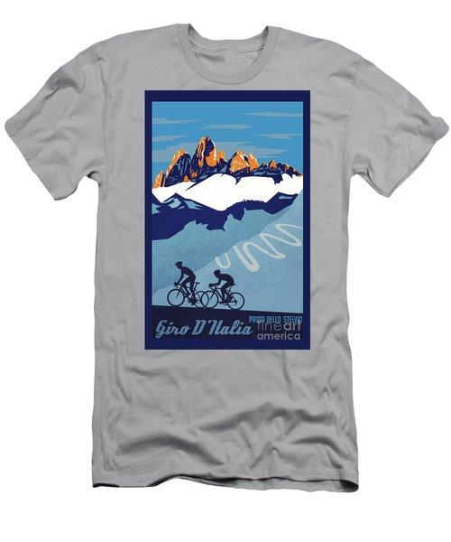 Giro D'italia Cycling Poster Men's T-Shirt (Athletic Fit)
