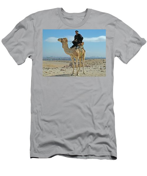 Giza Pyramids Camel Tourist Police Men's T-Shirt (Athletic Fit)