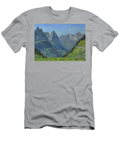 Glacier Afternoon Men's T-Shirt (Athletic Fit)