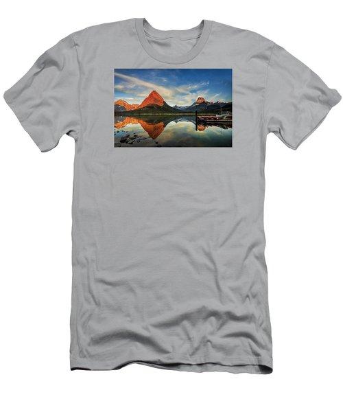 Glacier Morning Men's T-Shirt (Slim Fit) by Andrew Soundarajan