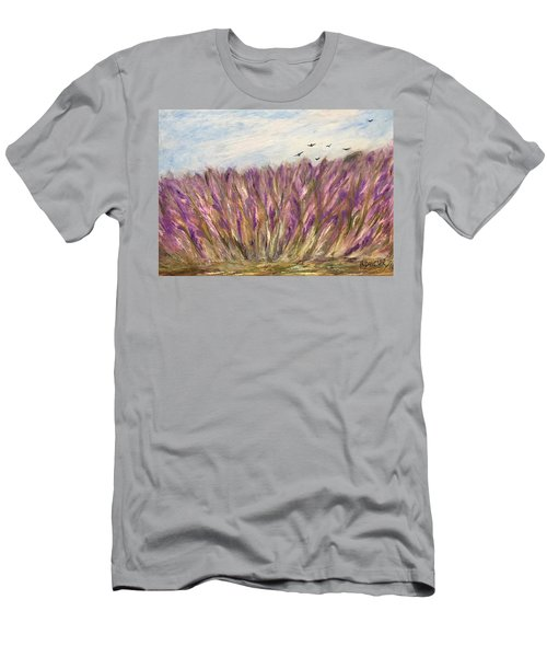 Gladiolus Field Men's T-Shirt (Athletic Fit)