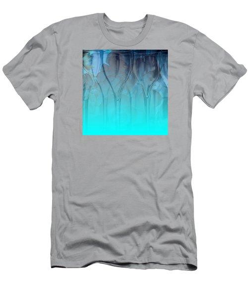 Men's T-Shirt (Slim Fit) featuring the digital art Glasses Floating by Allison Ashton