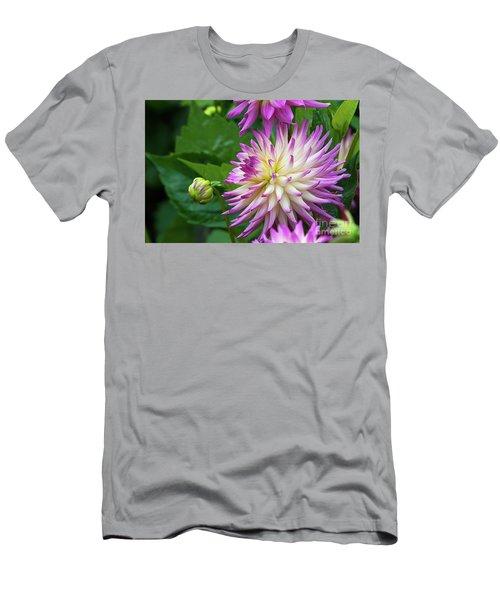 Glenbank Twinkle Dahlia Men's T-Shirt (Slim Fit) by Glenn Franco Simmons