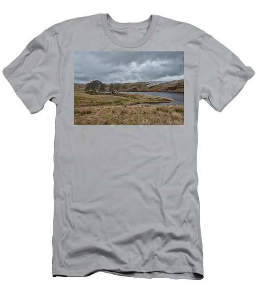 Men's T-Shirt (Athletic Fit) featuring the photograph Glendevon Reservoir In Scotland by Jeremy Lavender Photography