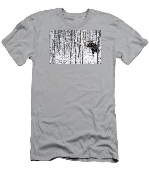 Glimpse Of Bull Moose Men's T-Shirt (Athletic Fit)