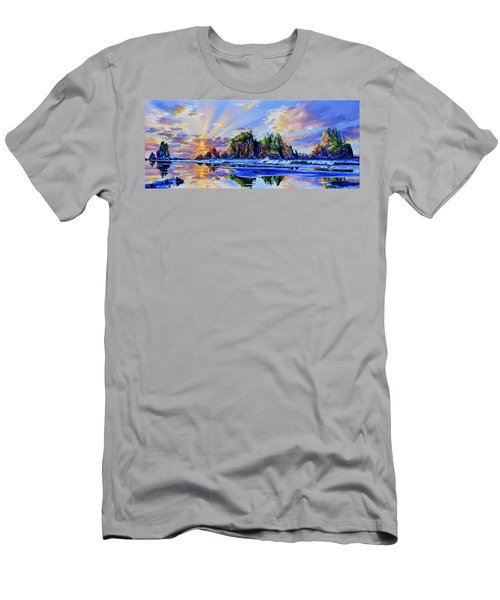 Men's T-Shirt (Athletic Fit) featuring the painting Glorious Point Of The Arches by Hanne Lore Koehler