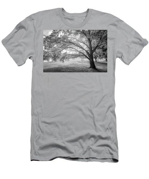 Glowing Tree Men's T-Shirt (Slim Fit) by Teemu Tretjakov