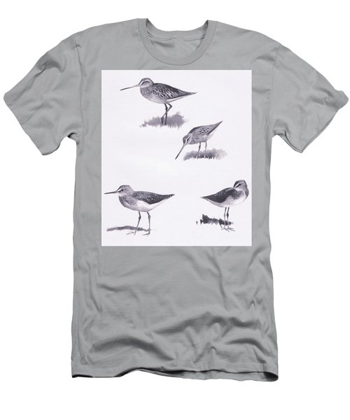 Godwits And Green Sandpipers Men's T-Shirt (Slim Fit) by Archibald Thorburn