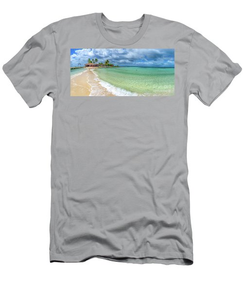 Goff's Caye Belize Pano Men's T-Shirt (Athletic Fit)