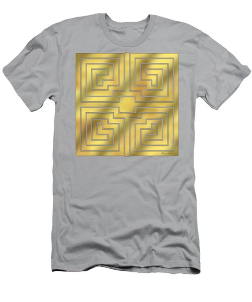Gold Geo 4 - Chuck Staley Design  Men's T-Shirt (Athletic Fit)