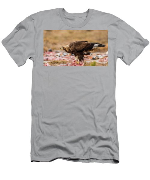 Men's T-Shirt (Slim Fit) featuring the photograph Golden Eagle's Profile by Torbjorn Swenelius