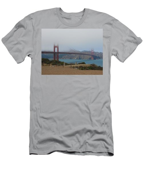 Golden Gate In The Clouds Men's T-Shirt (Athletic Fit)