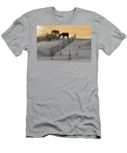 Golden Horses Men's T-Shirt (Athletic Fit)