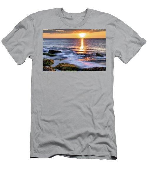 Golden Light Sunset, Rockport  Ma. Men's T-Shirt (Athletic Fit)