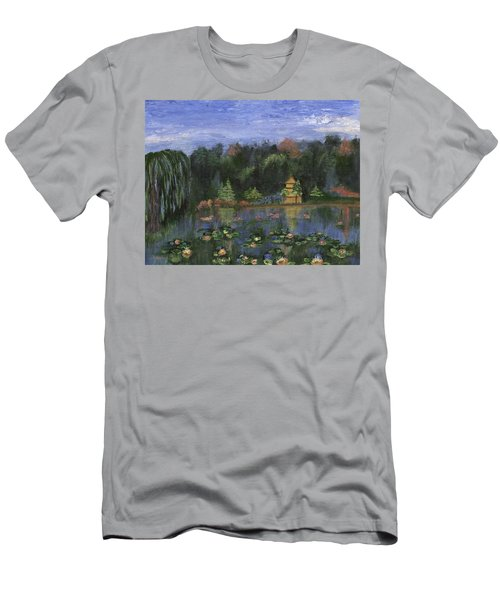 Men's T-Shirt (Athletic Fit) featuring the painting Golden Pagoda by Jamie Frier