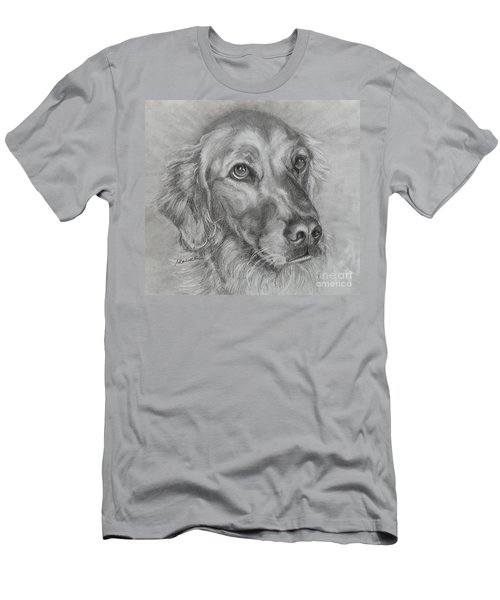 Golden Retriever Drawing Men's T-Shirt (Athletic Fit)