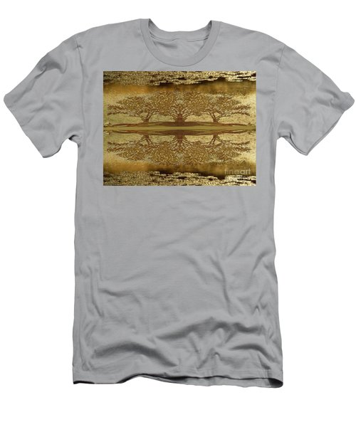 Golden Trees Reflection Men's T-Shirt (Athletic Fit)