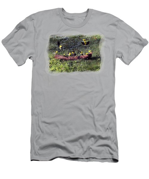 Goldfinch Convention Men's T-Shirt (Slim Fit) by Nick Kloepping