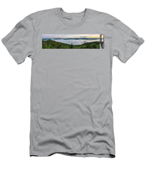 Goodnow Mountain Panorama Men's T-Shirt (Athletic Fit)