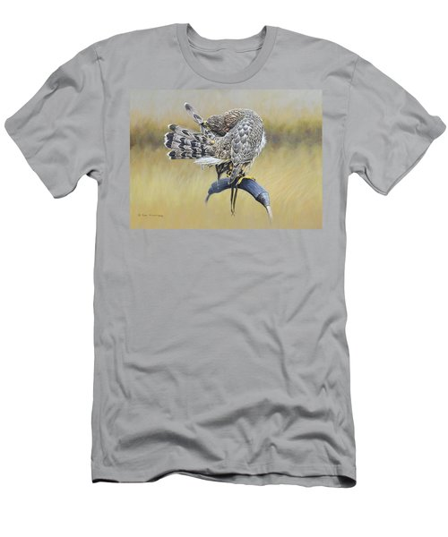 Men's T-Shirt (Athletic Fit) featuring the painting Goshawk Preening by Alan M Hunt