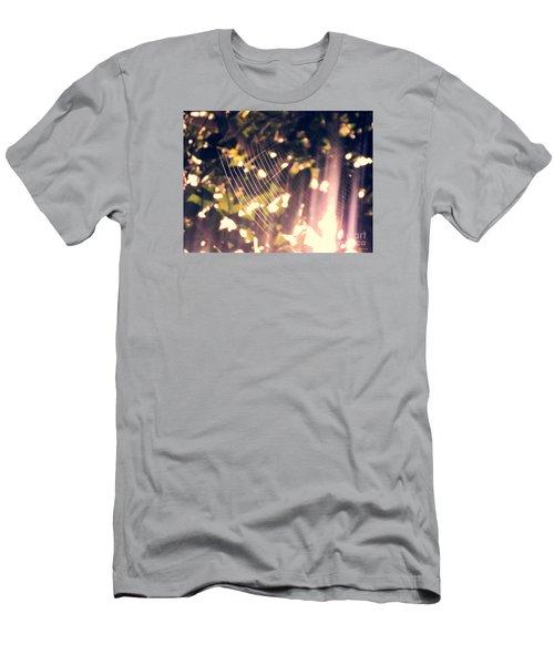 Men's T-Shirt (Slim Fit) featuring the photograph Gossamer Glow by Megan Dirsa-DuBois