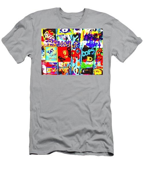 Graffiti Chaos In Paris Men's T-Shirt (Athletic Fit)