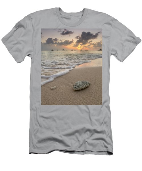 Men's T-Shirt (Athletic Fit) featuring the photograph Grand Cayman Beach Coral At Sunset by Adam Romanowicz
