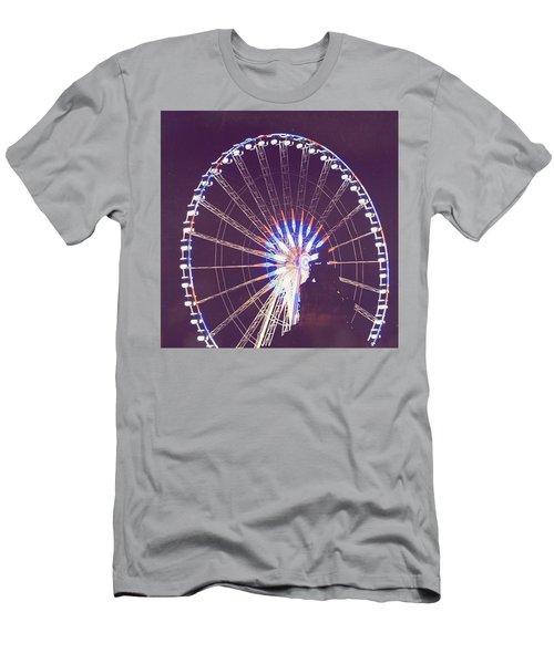 Grande Roue De Paris By Night Men's T-Shirt (Athletic Fit)
